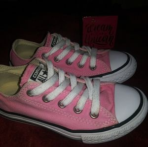 👟Converse All*Star Girls Pink Sneakers size 12